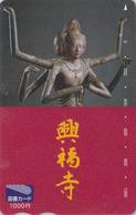 Carte Prépayée Japon - Culture Tradition Religion - KALI India - Japan Prepaid Tosho Card / Bouddha - 261 - Culture