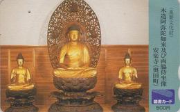 Carte Prépayée Japon - Culture Tradition Religion - BOUDDHA - Japan Prepaid Tosho Card - 262 - Culture