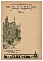 Menu Hôtel Du Nord Caillon La Bussière Vienne La Bénédictine à Fécamp Oratoire Et Fragment De La Terrasse Du Musée - Menus
