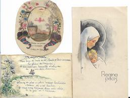 LOT 3 BELLES IMAGES PIEUSES  COMMUNION VIERGE MARIE - Santini