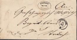 BADEN Dienst-Faltbrief Von Postablage Orsingen Nach Stockach 29.OKT (1865) - Baden