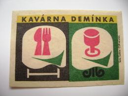 "Czechoslovakia  Matchbox Label 1964 - Praha Prague - Café ""Deminka"" - Matchbox Labels"