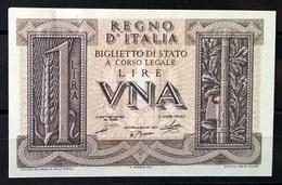 1939 - 1 LIRA FIOR DI STAMPA - [ 1] …-1946 : Kingdom