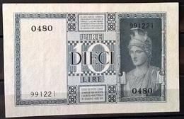 1935 - 10 LIRE FIOR DI STAMPA - [ 1] …-1946 : Regno