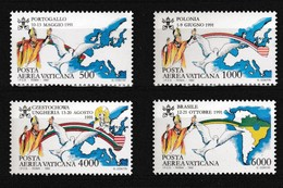 Vatikaan 1992 Luchtpost Nr 92/95 **, Zeer Mooi Lot Krt 4058 - Poste Aérienne