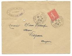 ENVELOPPE SEMEUSE / CAPDENAC GARE 1928 POUR VILLEFRANCHE DE ROUERGUE - Storia Postale