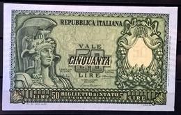 1951 - 50 LIRE FIOR DI STAMPA - [ 2] 1946-… : Repubblica