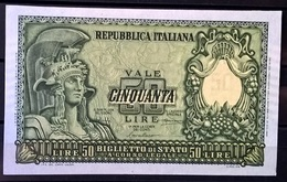 1951 - 50 LIRE FIOR DI STAMPA - [ 2] 1946-… : Républic