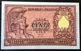1951 - 100 LIRE FIOR DI STAMPA - [ 2] 1946-… : República