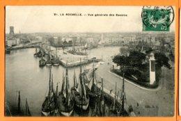 L290, La Rochelle, 81, Vue Des Bassins, Port, Bateau, Circulée 1910 - La Rochelle