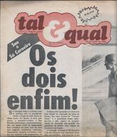 1ª Edição Do Jornal 'Tal & Qual' De 1980.1st Edition Of The 'Tal & Qual' Newspaper Of 1980.Bom Estado.Raro.8 Páginas. - Documents Historiques