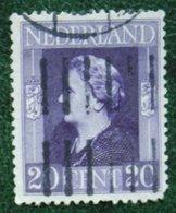 20 Ct Bevrijdingszegel NVPH 437 (Mi 437) 1944-1946 Gestempeld / Used NEDERLAND / NIEDERLAND - Period 1891-1948 (Wilhelmina)