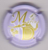 Capsule Champagne MARINA D. ( 12o ; Mauve  Or Et Blanc ) 4€ {S50-18} - Champagne