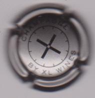 Capsule Champagne XL WINES ( 1 ; Argent Foncé Et Noir ) {S50-18} - Champagne