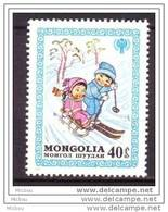 Mongolie, Mongolia, Ski, Luge, Enfant, Neige, Unicef, Hiver, Children, Winter, Snow - Hiver