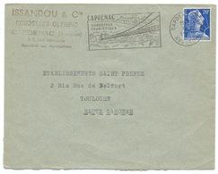 ENVELOPPE MARIANNE DE MULLER / CAPDENAC GARE AVEYRON / 1958 / ISSANDOU RONDELLES OLYMPIC - Storia Postale