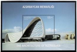 Azerbaijan.2017 Modern Architecture. H.Aliyev Center. S /S:  0.5  MIchel # BL196 (1331) - Azerbaïjan