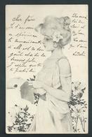Raphael Kirchner MM Vienne.Très Jolie Femme Et Iris. G 2-8 Voyagée En 1901- 2 Scans. - Kirchner, Raphael