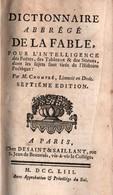 DICTIONNAIRE ABREGE DE LA FABLE  HISTOIRE POETIQUE  PAR CHOMPRE  PARIS 1753 - Libros, Revistas, Cómics