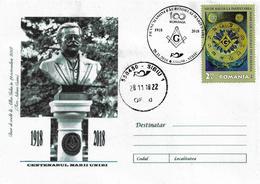 FREEMASONS - GREAT ROMANIA CENTENNIAL - FREEMASONS, CREATORS OF GREAT ROMANIA. - Maximumkarten (MC)