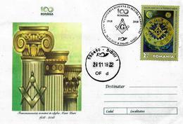 FREEMASONS - GREAT ROMANIA CENTENNIAL - FREEMASONRY TO THE SERVICE OF GREAT ROMANIA. - Maximumkarten (MC)