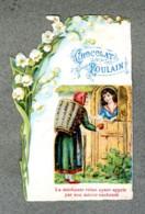Chromo Poulain Dentelle Muguet Blanche Neige Nains Snow White 7 Dwarfs Lace Card - Poulain