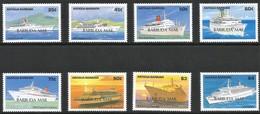 1989 Barbuda Caribbean Cruise Ships Set And Souvenir Sheets (** / MNH / UMM) - Bateaux