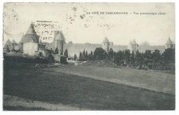 CPA LA CITE DE CARCASSONNE / VUE PANORAMIQUE SUD / 1924 - Carcassonne