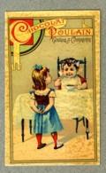Chromo Poulain Enfants Children Petit D�jeuner Breakfast Vintage Trade Card - Poulain