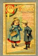 Chromo Poulain Enfants Children Courses Shopping Art Nouveau Vintage Trade Card - Poulain