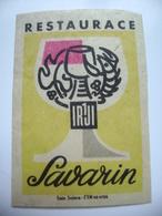 "Czechoslovakia  Matchbox Label 1964 - Praha Prague - Restaurant ""Savarin"" - Matchbox Labels"