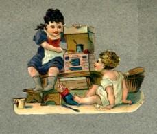 Chromo Découpi Jouet Toy Petite Cuisiniere Little Cooker Enfants Children Fillettes Girls Game Jeu Old Die-cut - Ragazzi