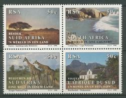 Südafrika 1990 Tourismus Giraffen Strand Herrenhaus 804/07 ZD Postfrisch - Südafrika (1961-...)