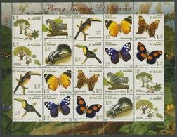 El Salvador 2006 Schmetterling Vogel Bäume 2426/35 ZD-Bogen Postfrisch (SG25305) - El Salvador