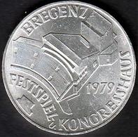 Österreich 100 Schilling Bregenz - Festspiel-Kongresshaus 1979 640er Silber - Autriche