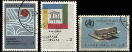 "GREECE-GRECE - HELLAS 1966: "" International Organizations"" Compl Set Used - Grèce"