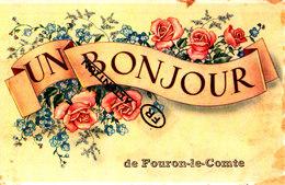 Un Bonjour De FOURON-le-COMTE - Carte Colorée - Voeren