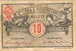 CÉDULA DA SANTA CASA DA MISERICÓRDIA ALIJÓ- 10 CENTAVOS. - Portugal