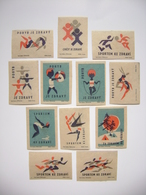 Czechoslovakia Series 12 Matchbox Label 1964 - Sport To Health - Movement Is Healthy - Training Is Healthy - Matchbox Labels
