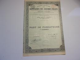 Ardoisieres Des Ardennes Belges (1907) - Shareholdings