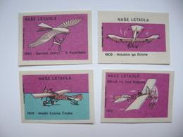 Czechoslovakia Series 24 Matchbox Label 1964 - Czechoslovak Airplanes - History Of Czech Aviation - Matchbox Labels