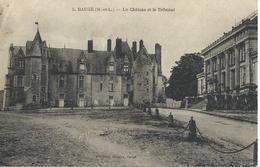 DPT 49 BAUGE Le Château Et Le Tribunal CPA TBE - France