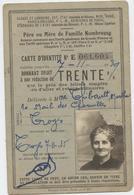 Chemins De Fer, Père Ou Mère De Famille Nombreuse, Carte D'identité ,trente %,Troyes, Thibault, Alsace,Paris, 1935 - Autres
