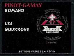 Rare // Etiquette De Vin // Militaire // Pinot-Gamay, Ecole Centrale Des Sous-Officiers Instructeurs - Militaire