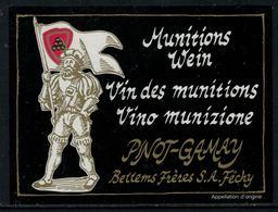 Rare // Etiquette De Vin // Militaire // Pinot-Gamay, Vin Des Munitions - Militaire