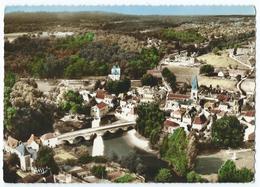103-29 A - CUBJAC (24) - Vue Générale Aérienne Du Village - Pont, Eglise, Auvézère... -CPSM Non écrite -Scan Recto-Verso - France