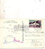 1962  CARTOLINA  CON ANNULLO  CANNES - Francia