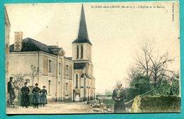 49 - St-Jean-de-la-Croix L'Eglise La Mairie . Animée  2 Scans - France