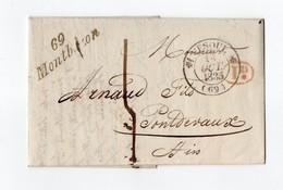 * - LAC De Montbozon (70) De 1835 - Cursive + Taxe 1D - Lettre De Loulans - 1801-1848: Précurseurs XIX