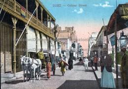 Suez Colmar Street. Coach Horses People - Suez